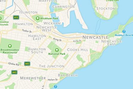 newcastle-map